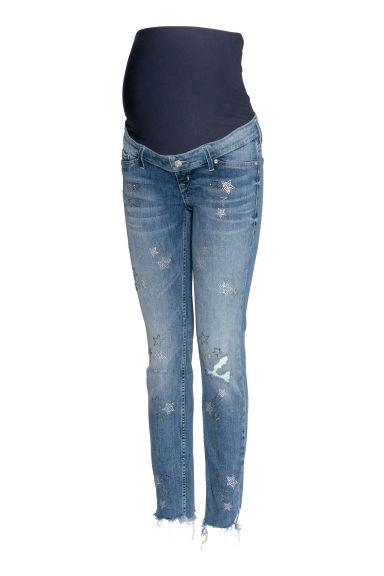 MAMA Skinny Ankle Jeans - Denim blue - Ladies | H&M CN