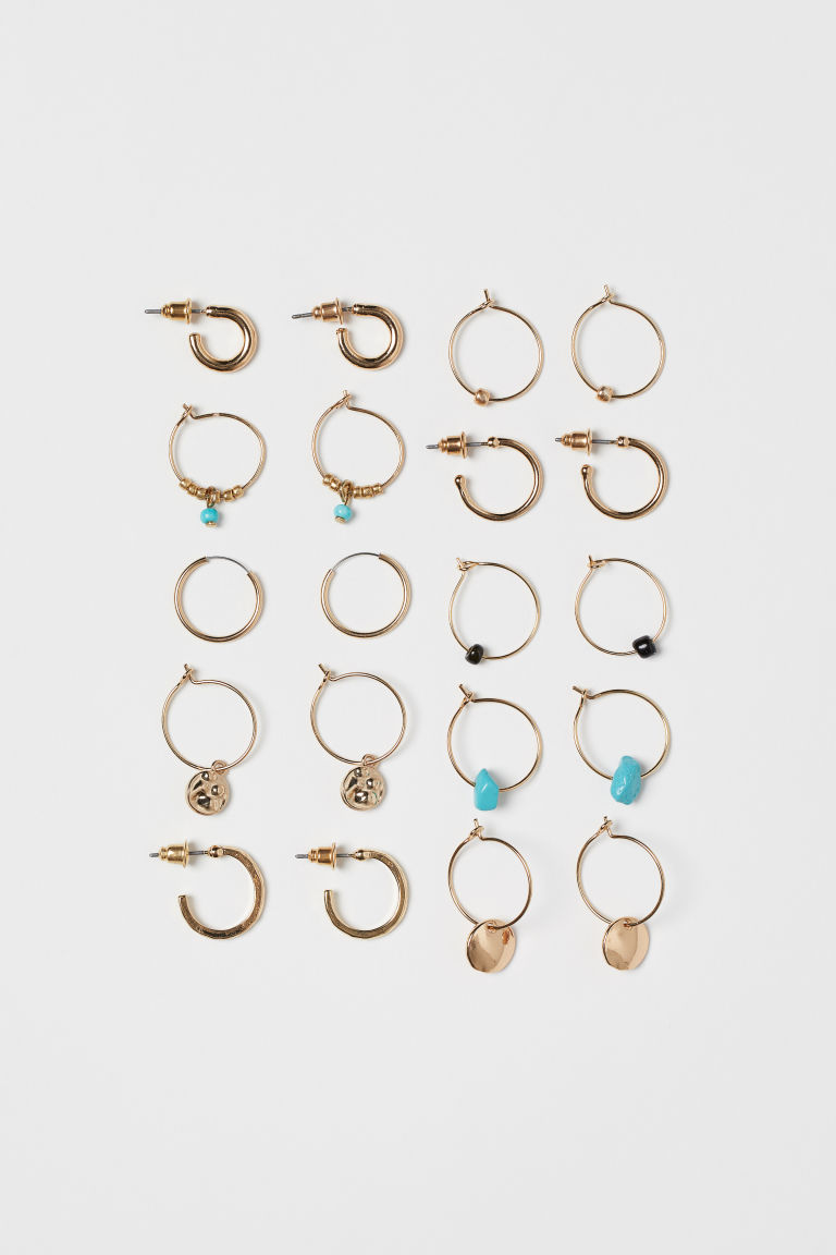 10-pack Earrings - Gold-colored - Ladies | H&M US