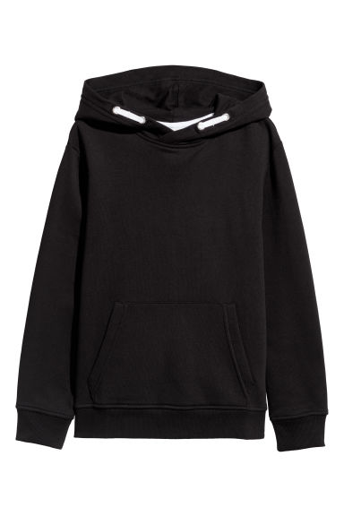 Hooded top - Black - Kids | H&M IN