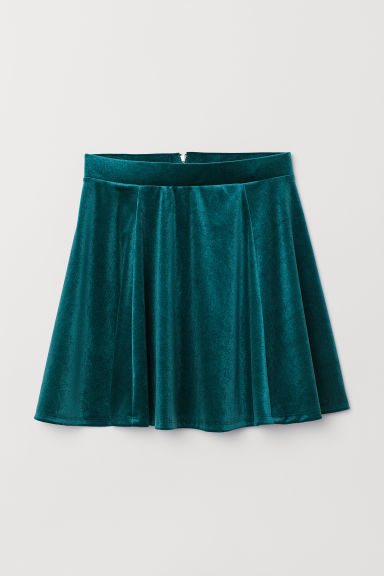 Skater skirt - Dark green -  | H&M CN