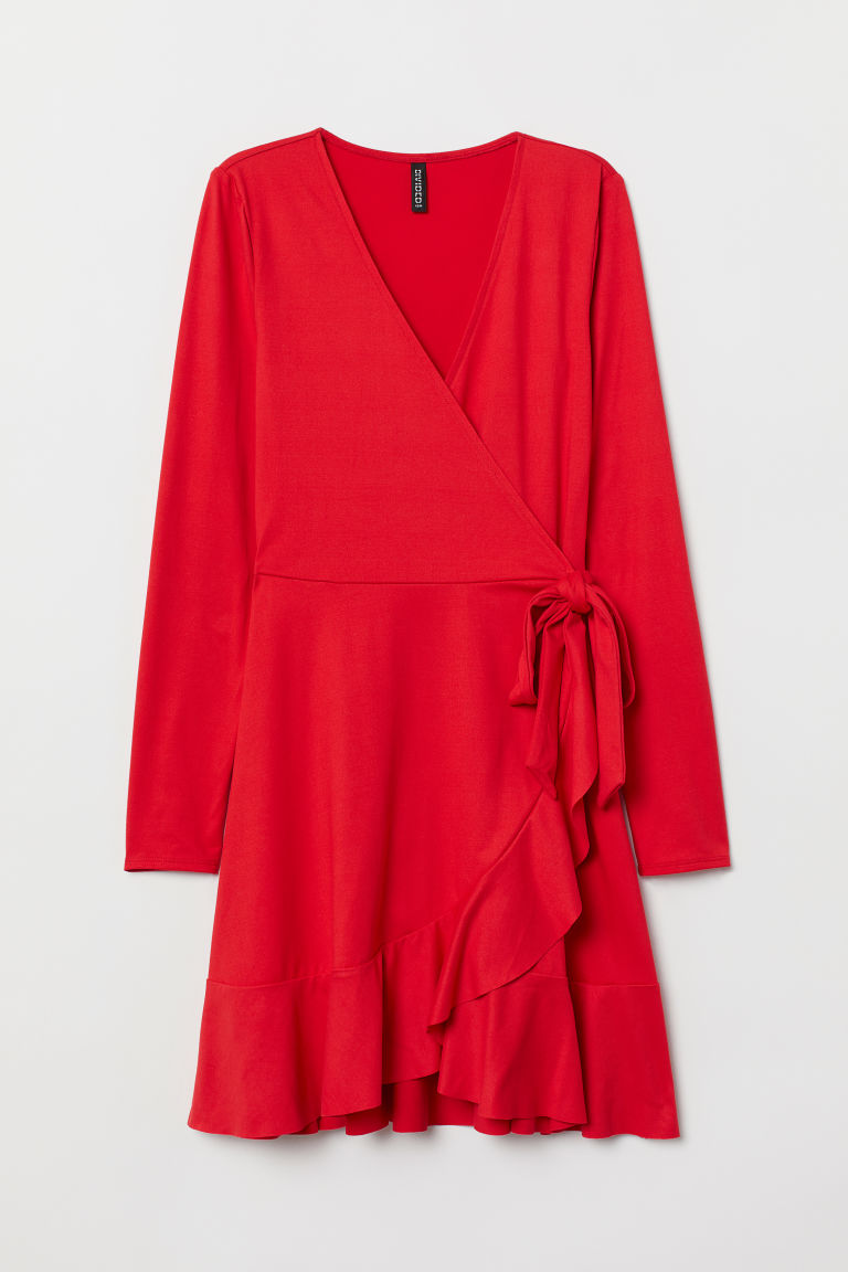 Wrap dress - Red -  | H&M CN