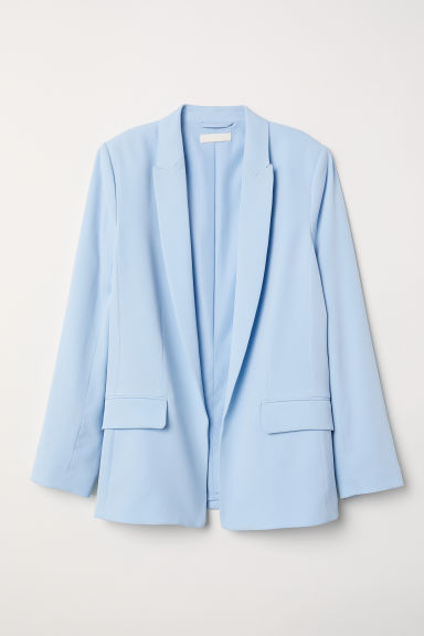 Straight-cut jacket - Light blue - Ladies | H&M CN