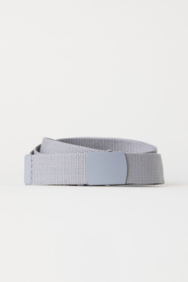 Fabric belt - Light grey - Men | H&M CN