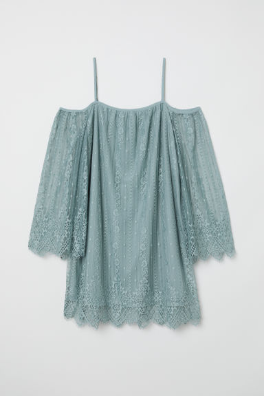 Cold shoulder dress - Grey-green - Ladies | H&M