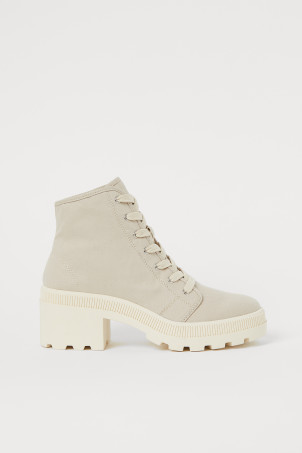 Cotton twill boots