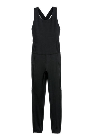 Sports jumpsuit - Black -  | H&M