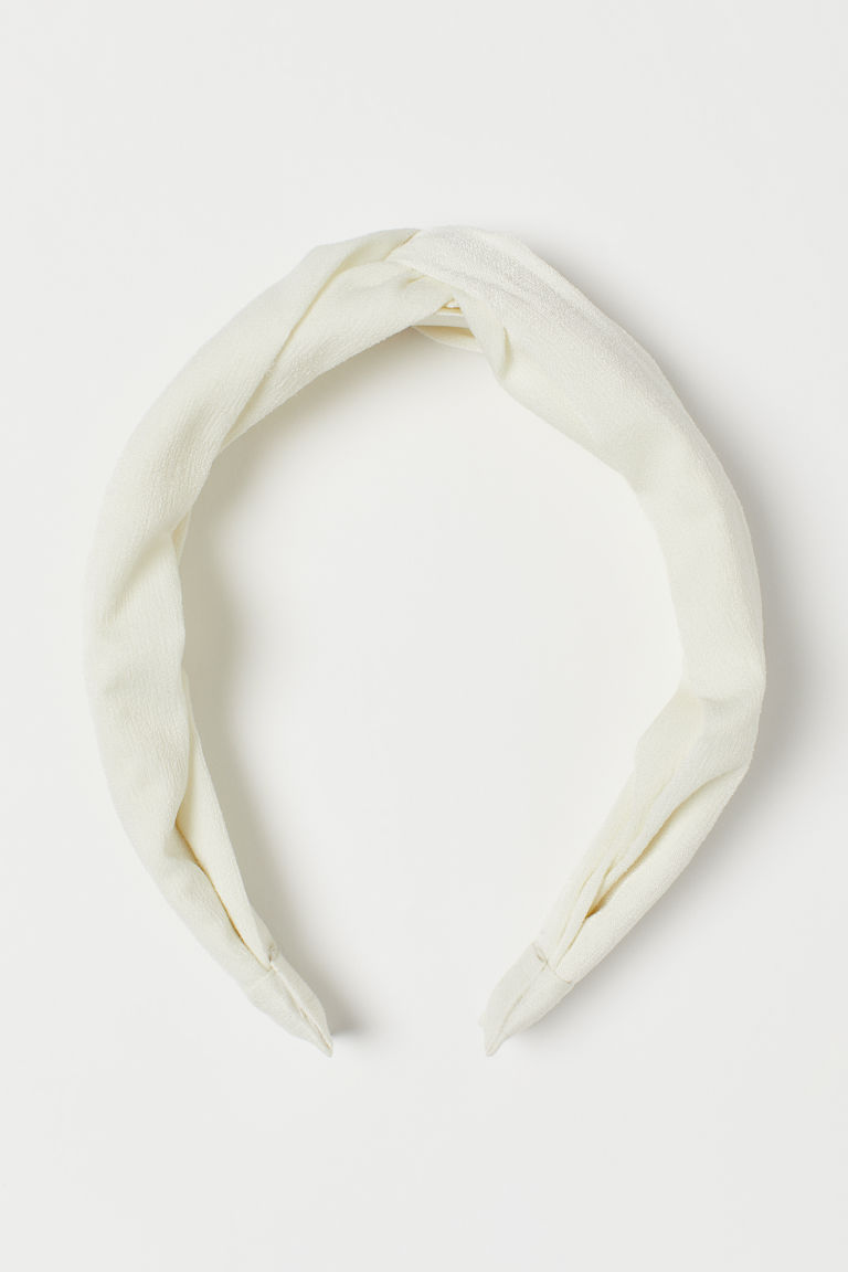 Alice band with a knot detail - Cream -  | H&M