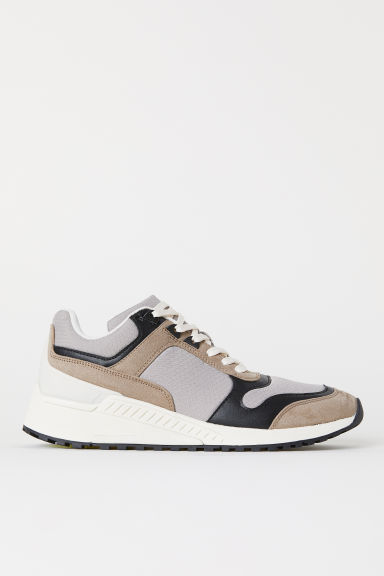 Mesh trainers - Light grey - Men | H&M