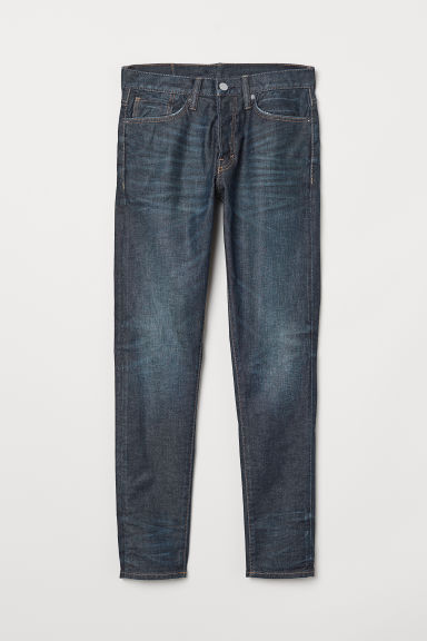 Slim Straight Jeans - Dark denim blue -  | H&M