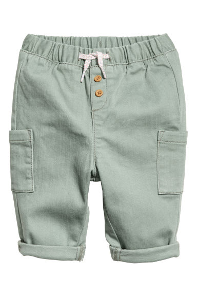 Pantaloni pull-on - Verde kaki chiaro -  | H&M IT
