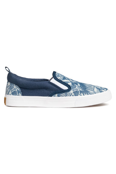 Slip-on trainers - Blue/Patterned - Kids | H&M CN