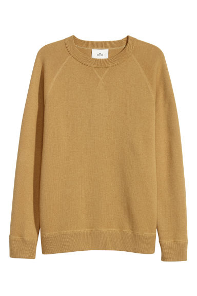 Wool-blend sweatshirt - Dark yellow -  | H&M