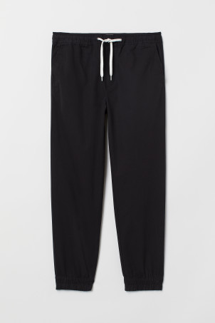 Cotton twill joggers