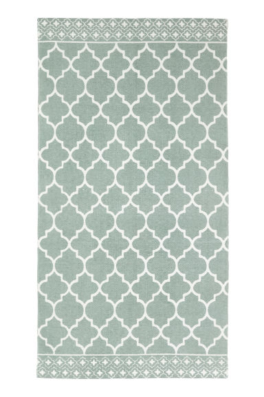 Patterned cotton rug - Dusky green - Home All | H&M IE