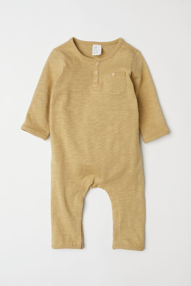 Slub jersey all-in-one suit - Mustard yellow - Kids | H&M CN