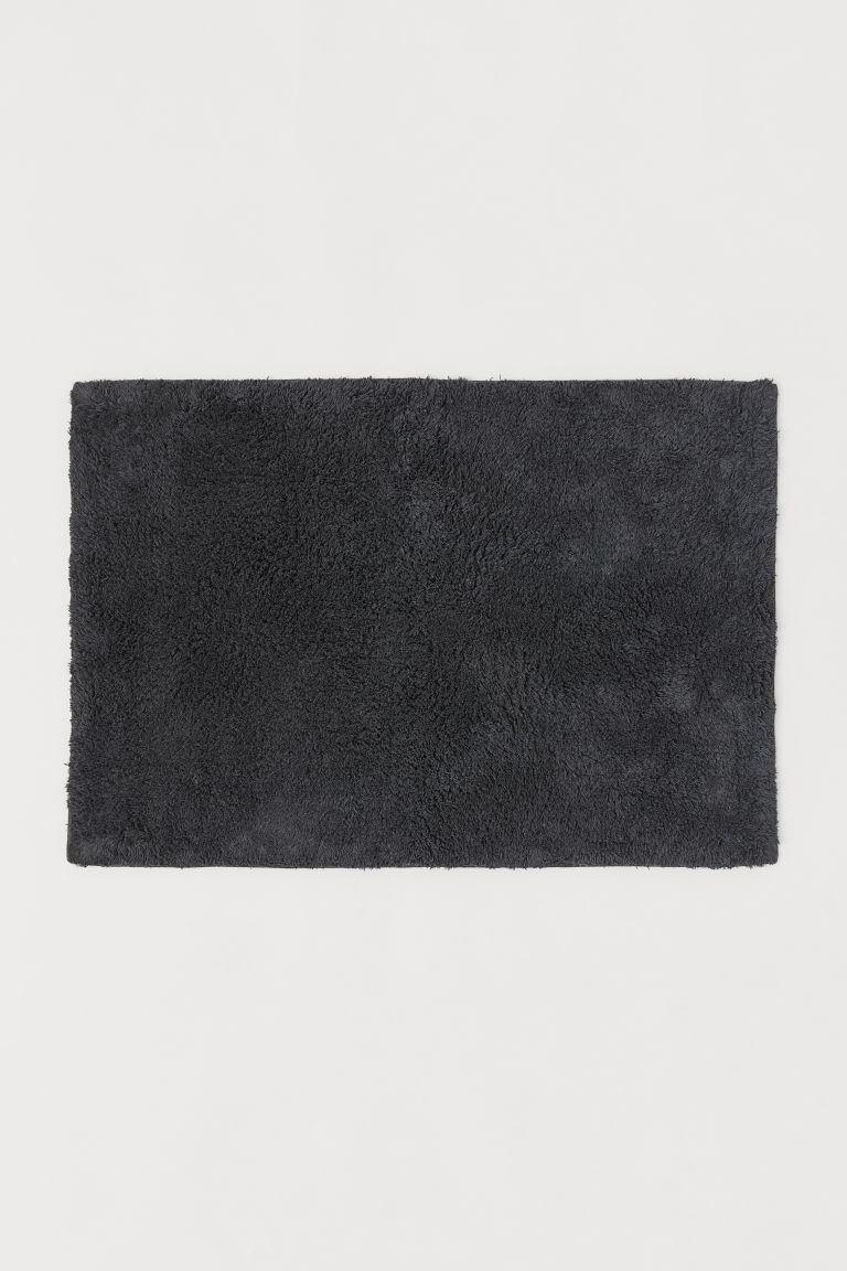 Bath mat - Anthracite grey - Home All | H&M CN