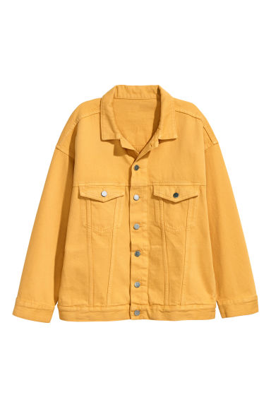 Oversized denim jacket - Yellow - Ladies | H&M
