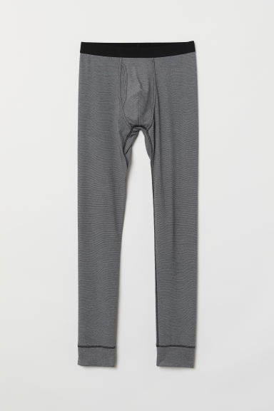 Thermal longjohns - Black marl -  | H&M
