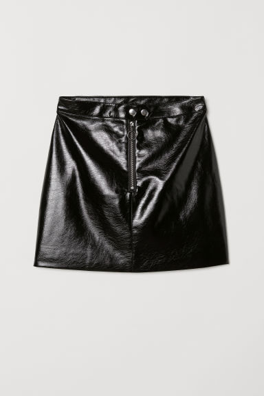 Patent skirt - Black -  | H&M
