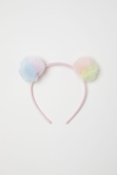 Alice band with pompoms - Light pink/Multicoloured - Kids | H&M