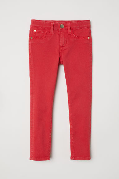 Twill trousers Skinny Fit - Red - Kids | H&M