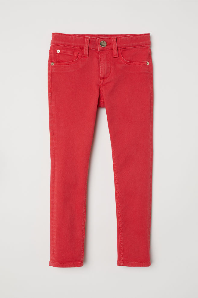 4073ae1d0fd Twill trousers Skinny Fit - Red - Kids