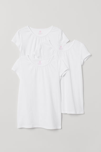 3-pack jersey tops - White - Kids | H&M CN