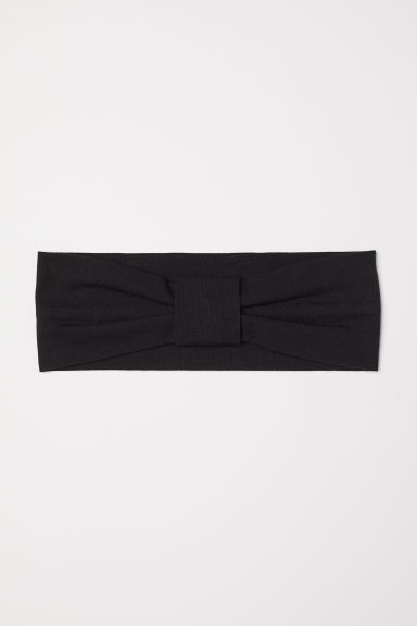 Jersey hairband - Black - Ladies | H&M CN