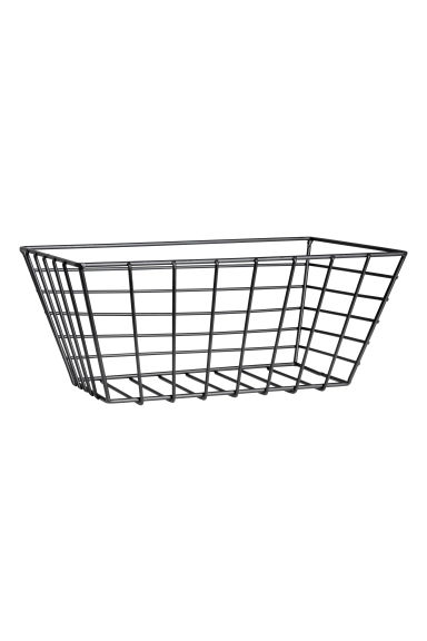 Small metal wire basket - Black - Home All | H&M CN