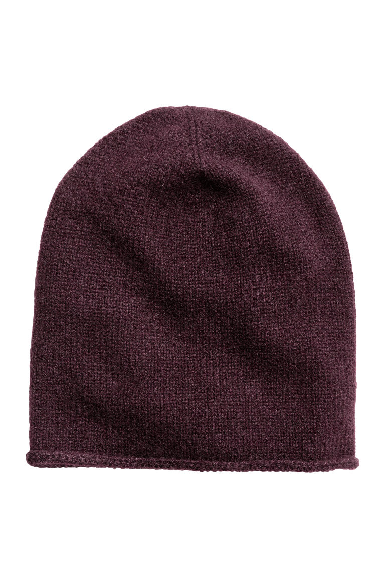 Cashmere hat - Burgundy - Ladies | H&M