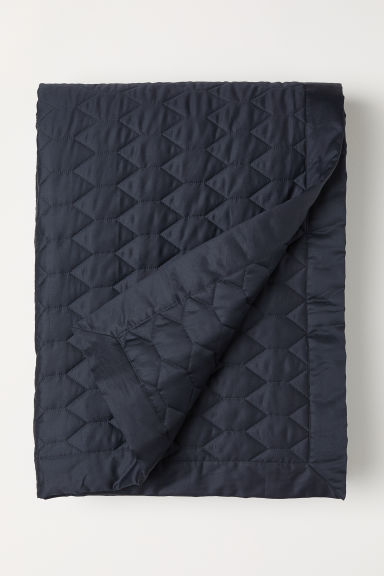 Quilted bedspread - Dark grey - Home All | H&M CN