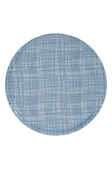 Rond dienblad - Wit/blauw dessin - HOME | H&M BE