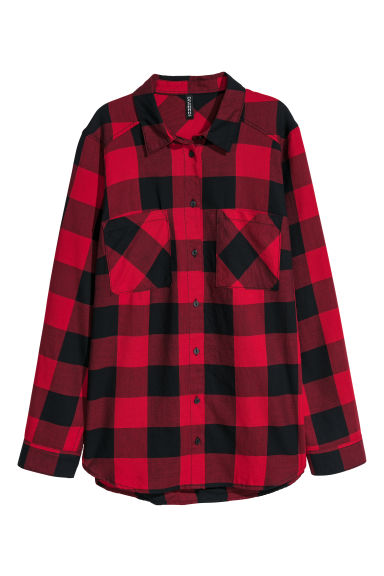 Checked shirt - Red/Checked -  | H&M