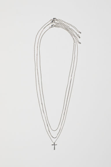 3-pack necklaces - Silver-coloured - Ladies | H&M CN