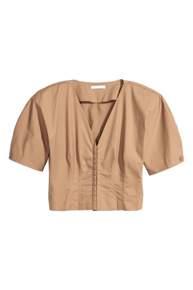 e1bfa7c1e7fdf6 Cotton blouse - Beige - Ladies
