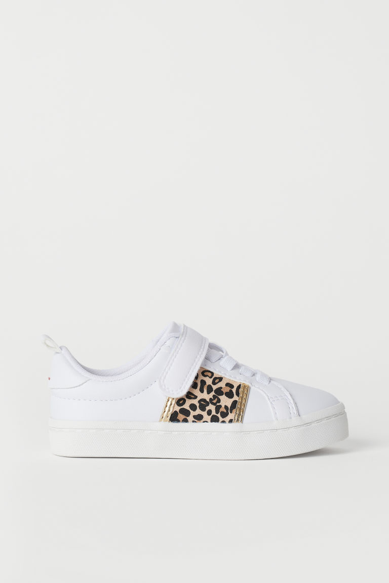 Sneakers - White/leopard print - Kids | H&M US