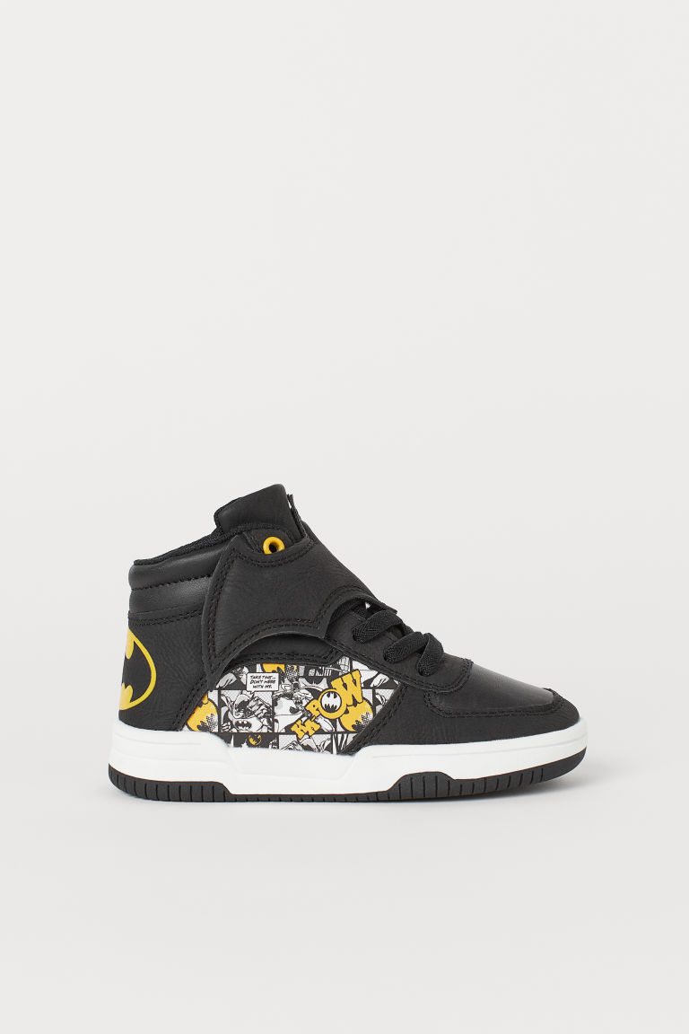 Hi-top trainers - Black/Batman - Kids | H&M CN