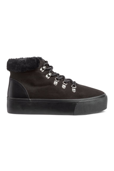Warm-lined hi-tops - Black - Ladies | H&M