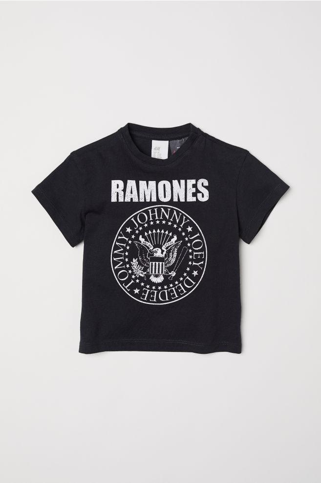 d08139756 Camiseta con estampado - Negro/Ramones - NIÑOS | H&M ...