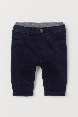 Pull-on corduroy trousers