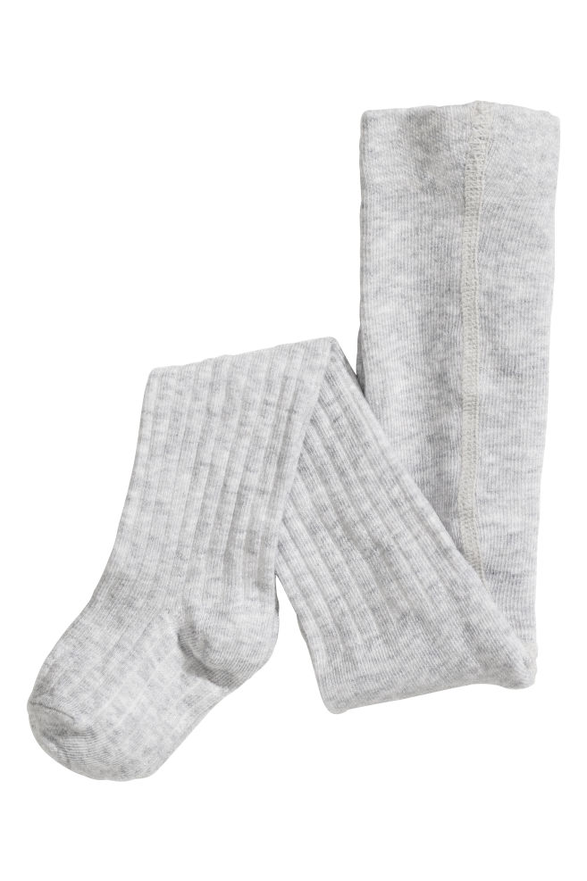 50b80686b0c1a ... 2-pack tights - Light grey/Hearts - Kids   H&M IN 3