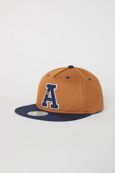 Cap with an appliqué - Brown/A - Kids | H&M CN