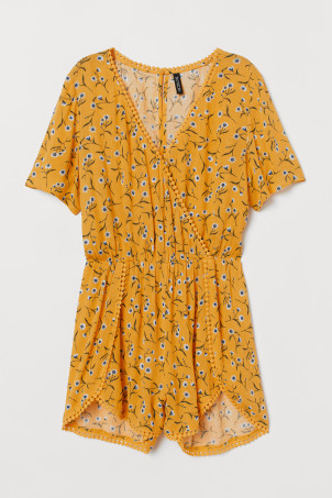 V-ringet playsuit