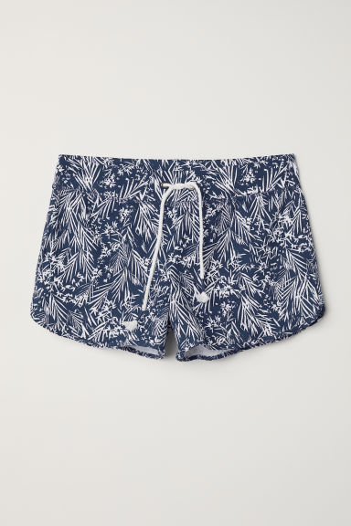 Shorts in felpa - Blu scuro/fantasia - DONNA | H&M IT