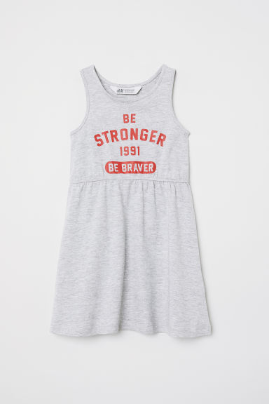 Abito in jersey - Grigio mélange/Be Stronger -  | H&M IT