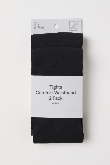 2-pack 40 denier tights - Black - Ladies | H&M