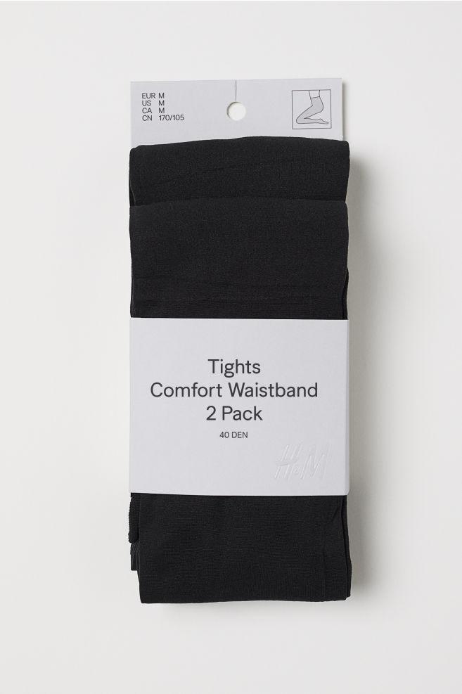 88f57ec96599e 2-pack 40 Denier Tights - Black - Ladies | H&M ...