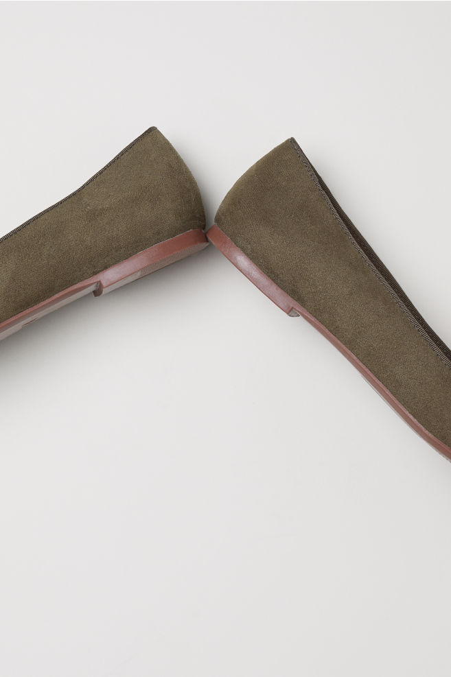 7610e3ba905 ... Loafers - Dark khaki green - Ladies