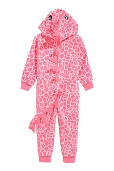 Tuta in pile - Rosa/drago - BAMBINO | H&M IT