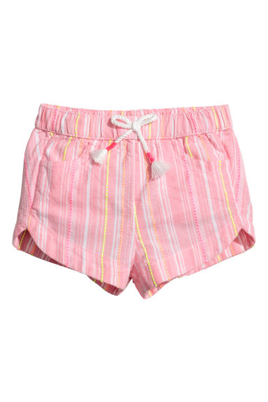 Shorts in cotone - Rosa/righe -  | H&M IT